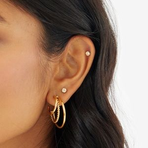 Amber Sceats 24K Gold Plated Pia Earrings